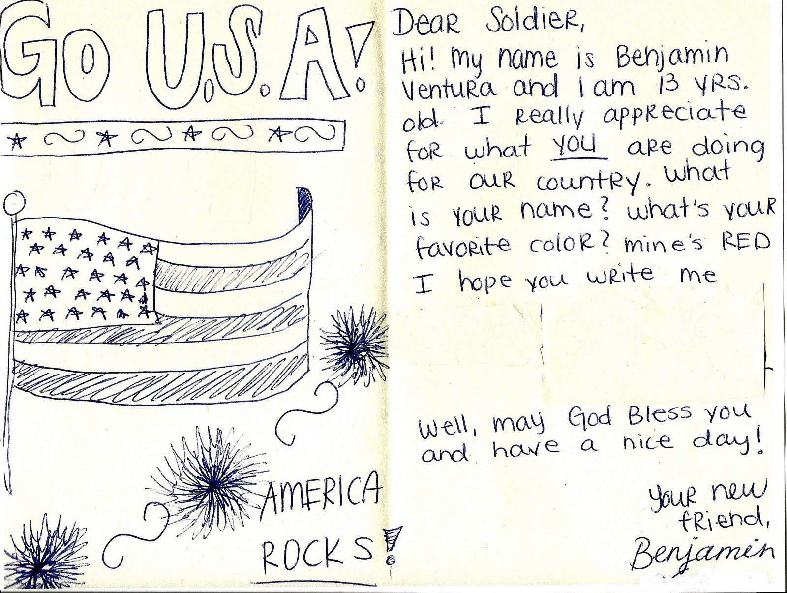 write a letter to a solider