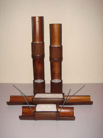 Manualidades forlayn trabajos en bamb for Bambu seco para decoracion