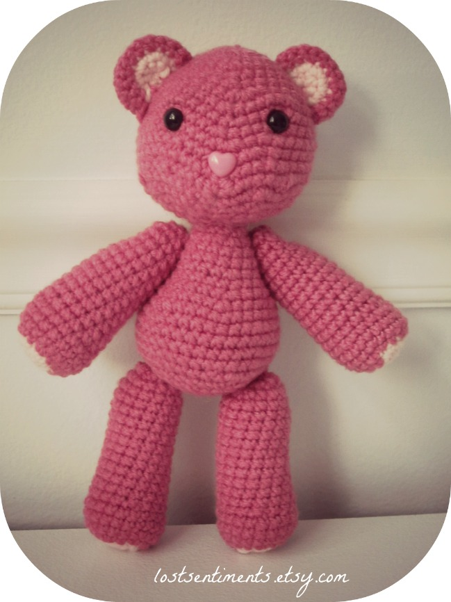 lostsentiments: Large Amigurumi Teddy Bear From Scratch