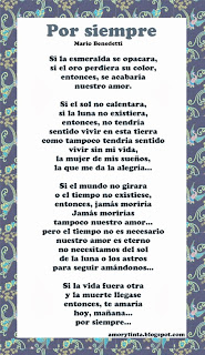 poema por siempre de mario benedetti