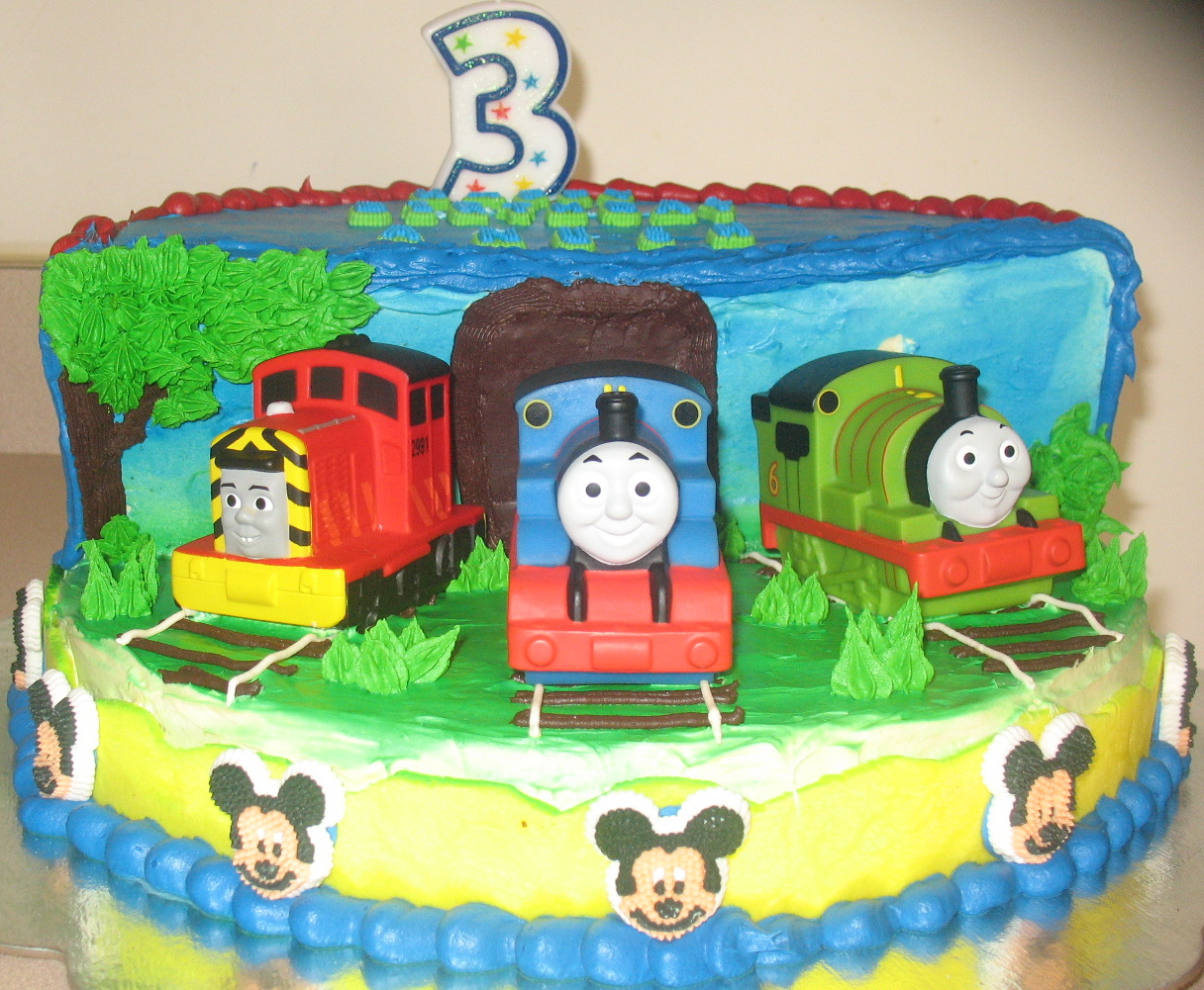 ANU CAKES N BAKES Anushs 3rd Birthday Cake Thomas and Friends