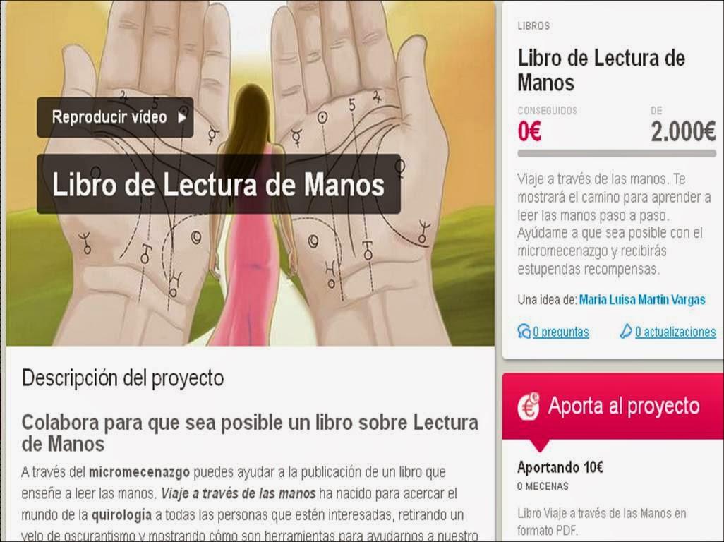 crowdfunding libro de lectura de manos