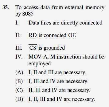 2012 June UGC NET in Electronic Science, Paper III, Question 35