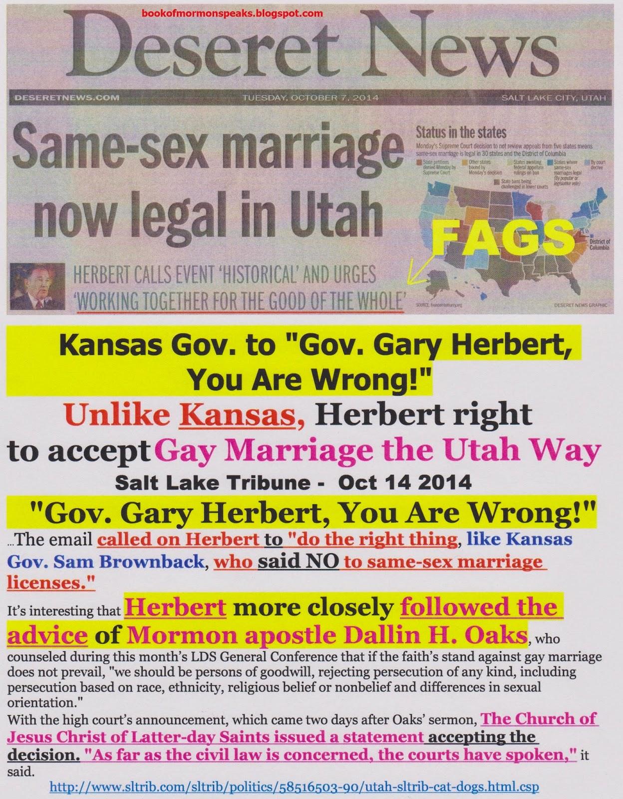 Lds Same Sex Marriage Statement