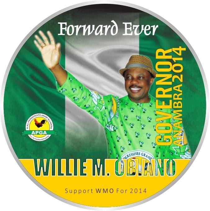 Chief Willie Obiano (w.w.w) FOR ANAMBRA STATE GOVERNOR 2014