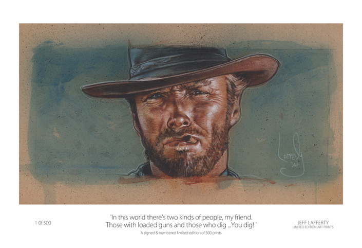 Clint Eastwood Painting, Artwork is Copyright © 2014 Jeff Lafferty