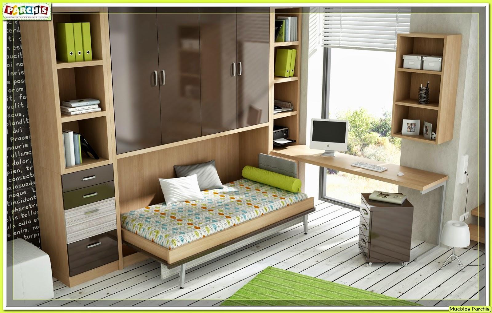 Cama mesa abatible camas autoportantes camas abatibles for Dormitorios juveniles con escritorio incorporado