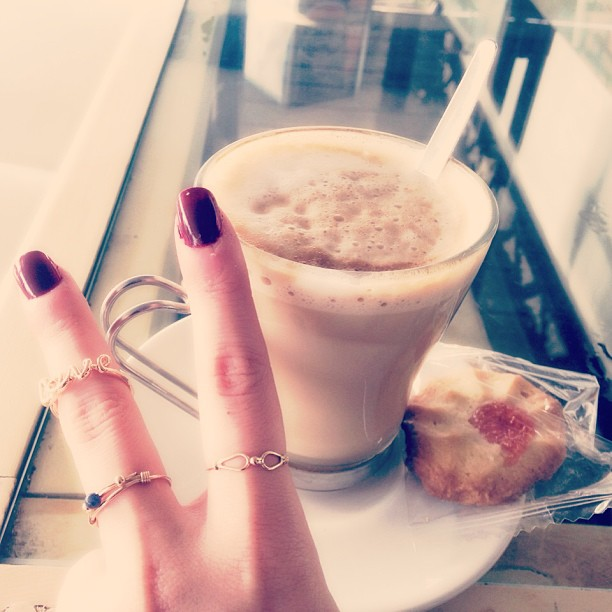 cofee and fashion midi ring, ring love