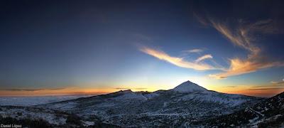 Teide nevado al atardecer - Foto: Daniel López