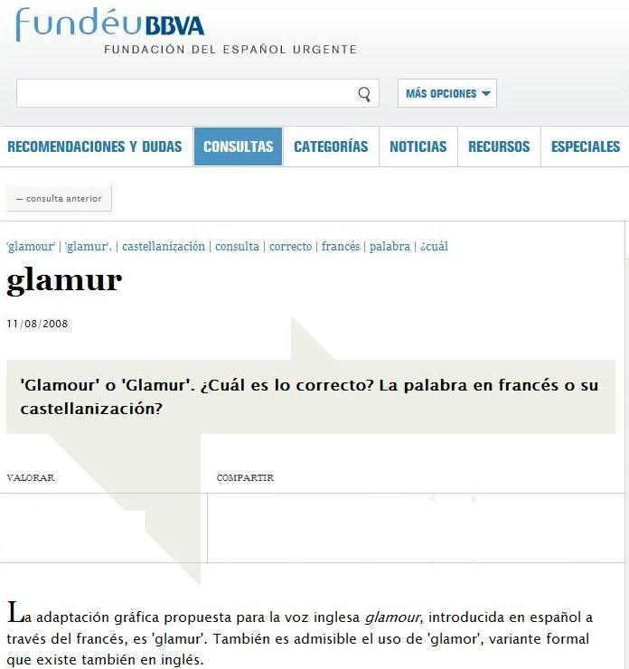 Hablanzas y malhablanzas la confusi n del glamour - Definicion de glamour ...