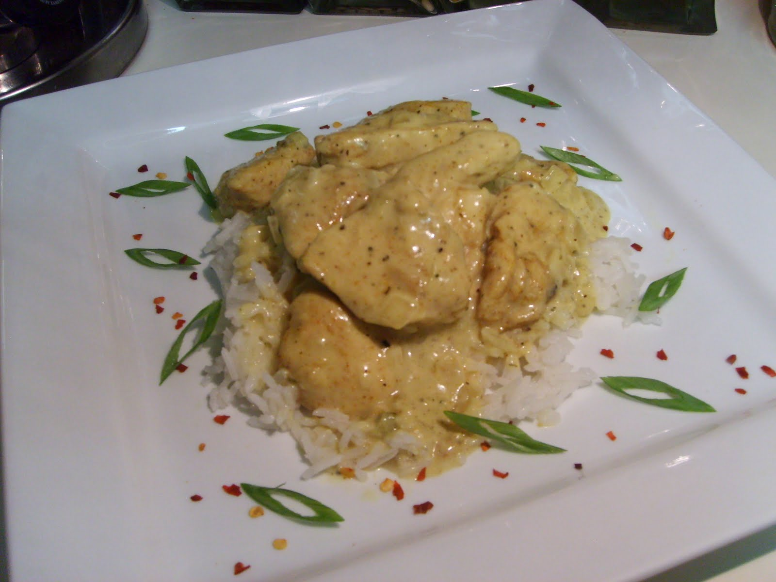 The Open Pantry: Basil Chicken in Coconut-Curry Sauce