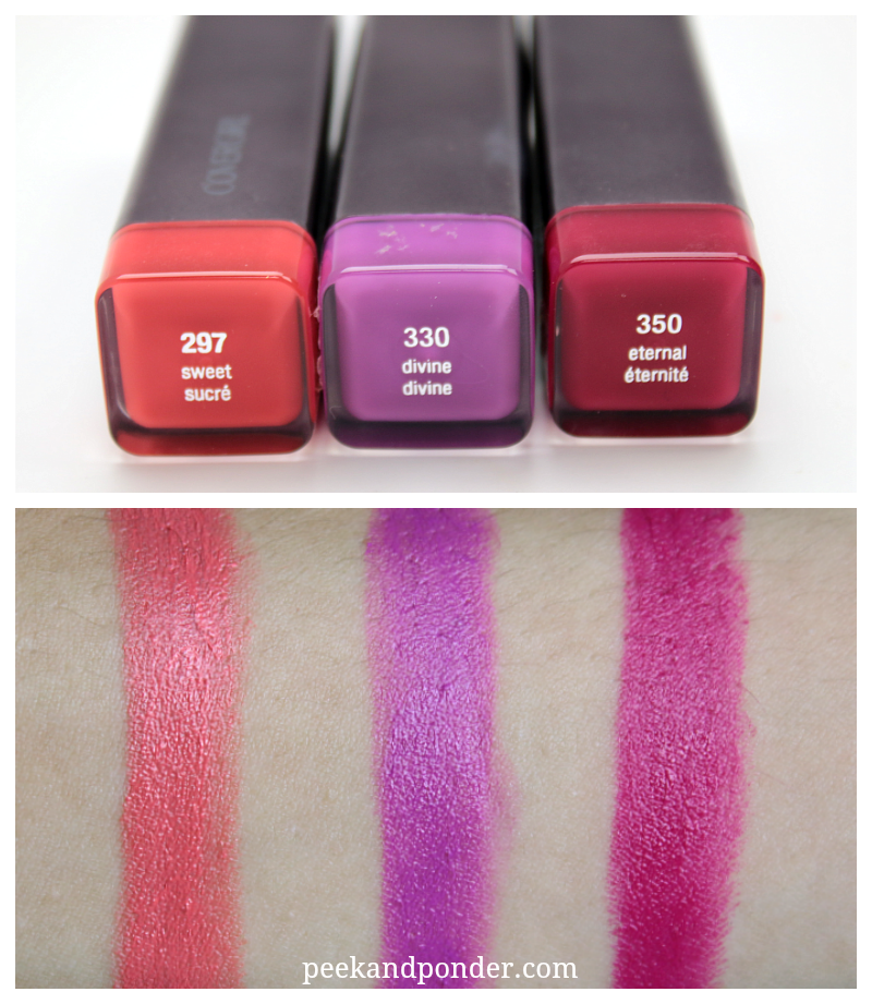 Covergirl Lip Perfection swatches