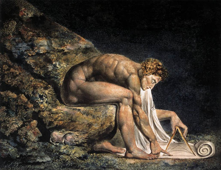 "William Blake, Isaac Newton ""The Last Sorcderer"""