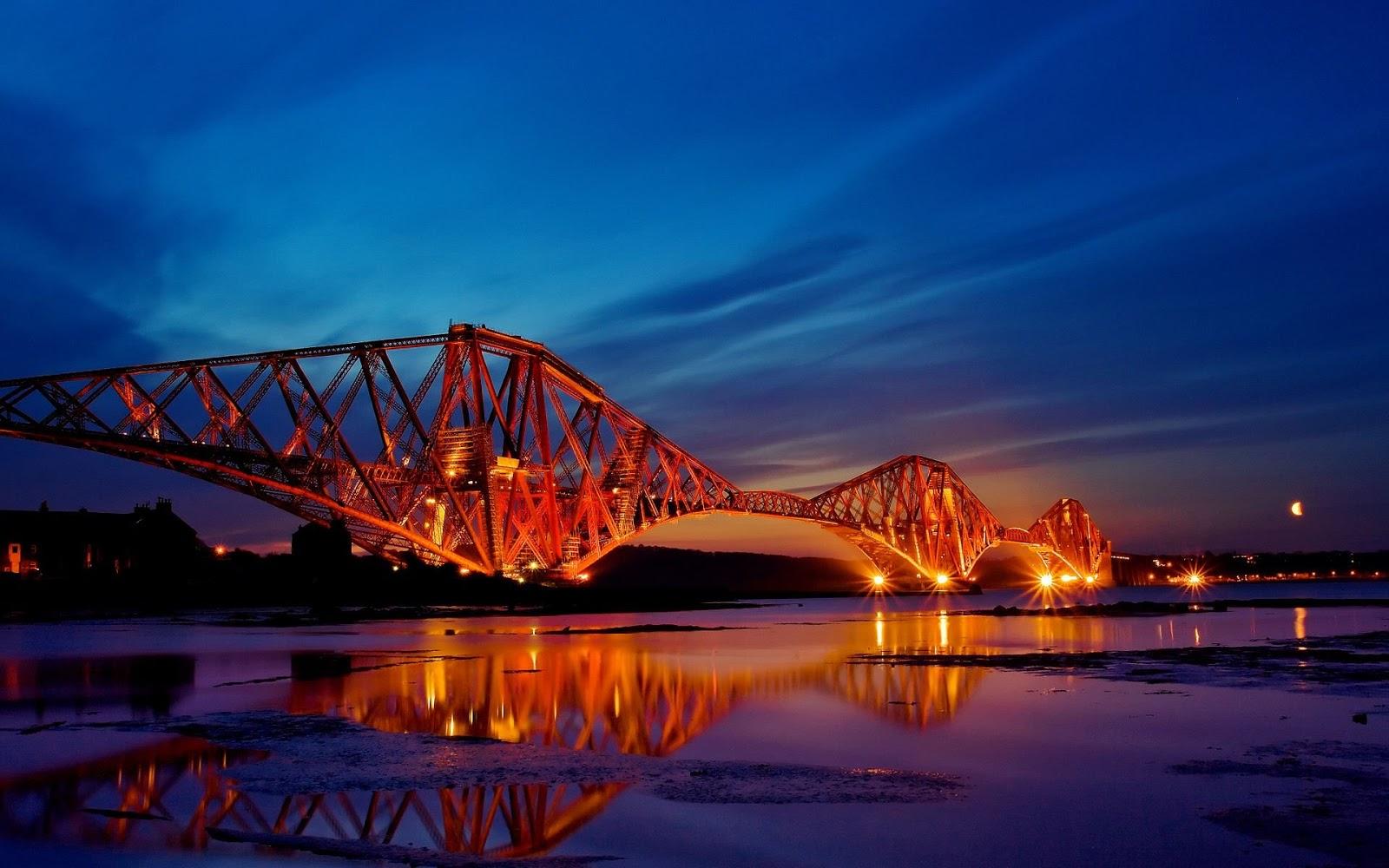 Bridge Seen at Night