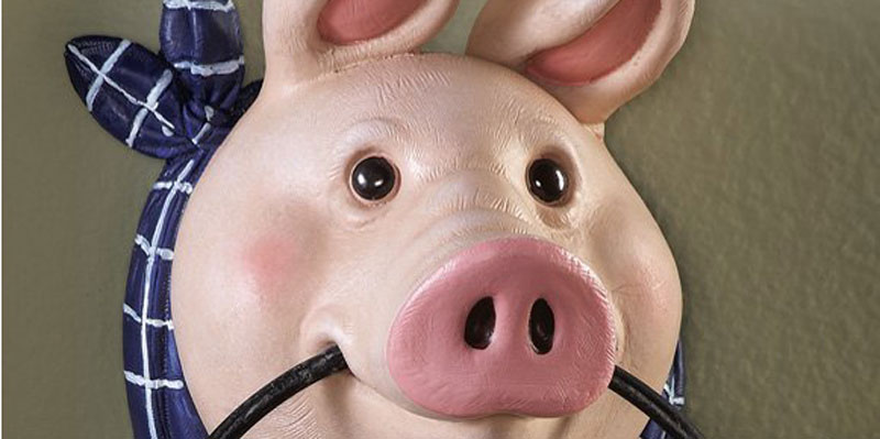Easy home decor creating a pig theme kitchen for Pig decorations for home