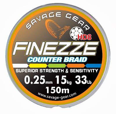 Quentin Combe Savage Gear Nouveautés News 2014 Fils Nylon Tresse Finesse Finezze HD8 Counter Braid couleurs