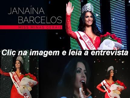 Janaína Barcelos, fala da credibilidade do concurso do qual ela foi eleita Miss Minas Gerais 2013.