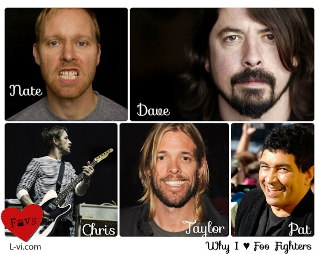Dave, Nate, Chris, Taylor and Pat - Why I ♥ Foo Fighters by Lucebuona