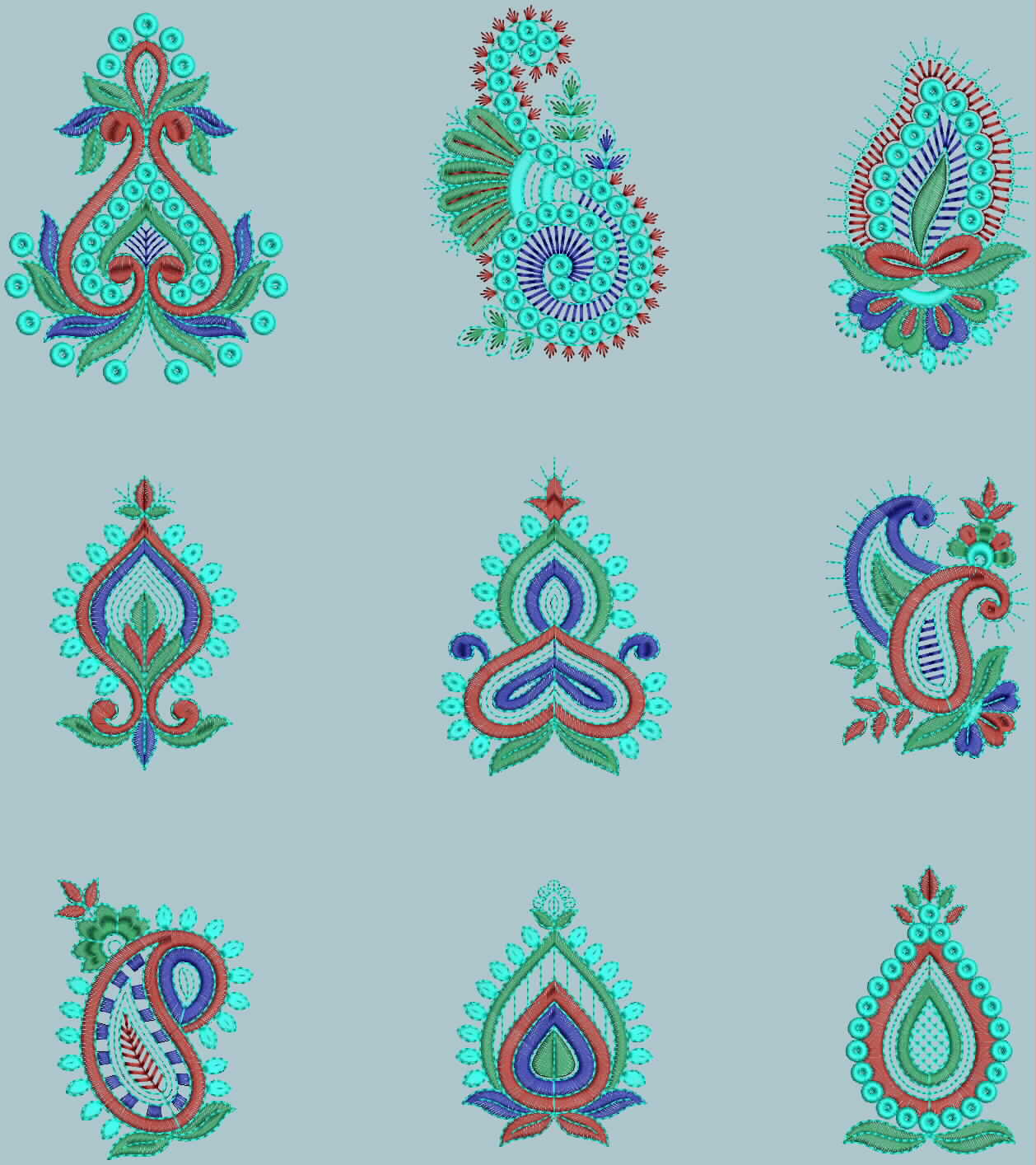 Embdesigntube patch for bridal wedding choli embroidery