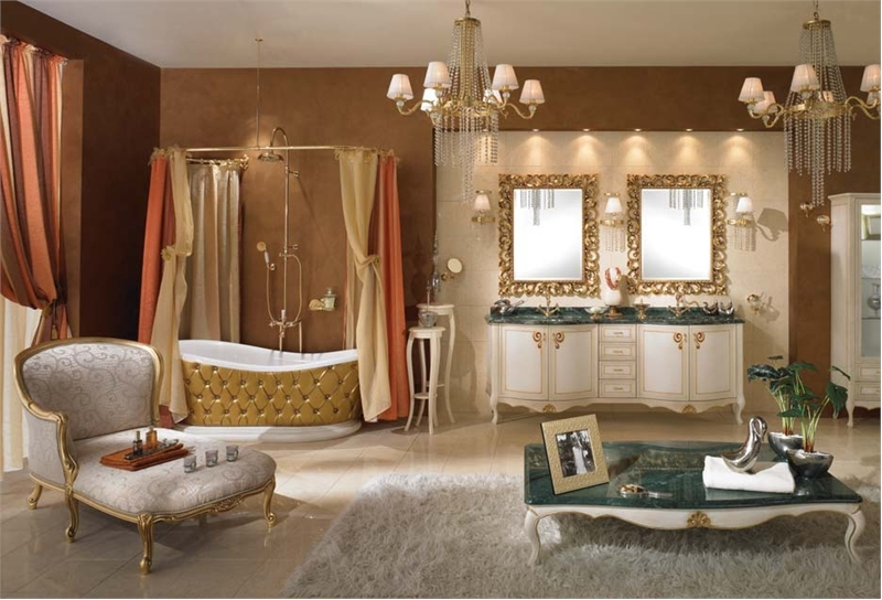 Fashion life style luxury bathroom design for Bathroom decoration pic