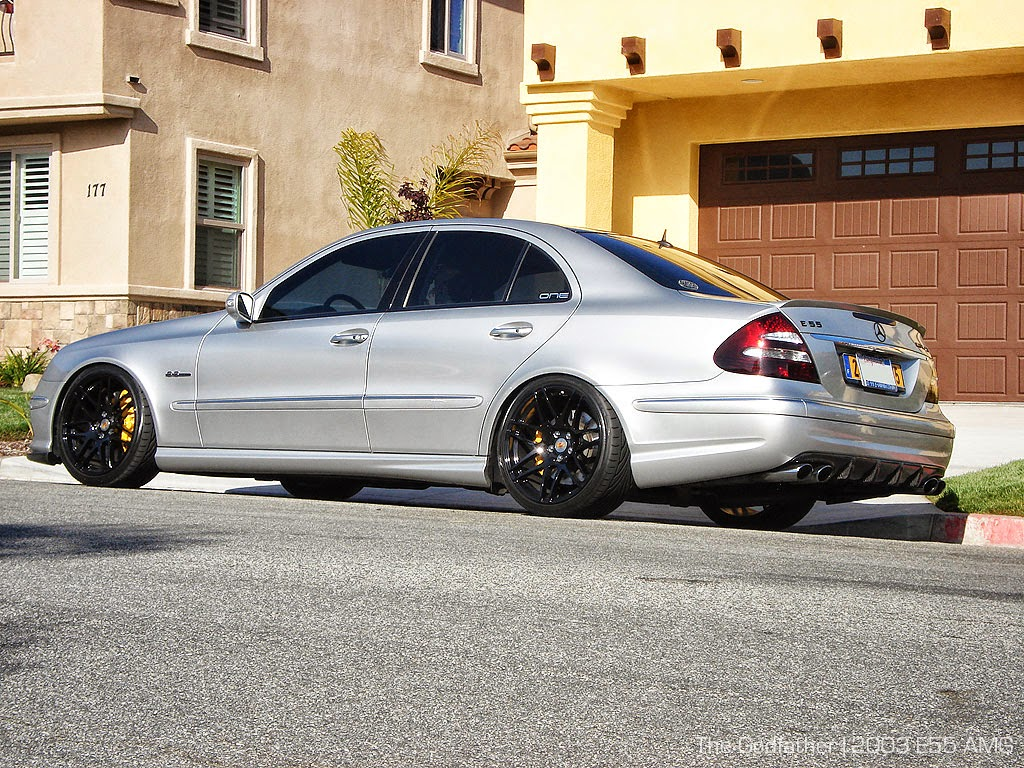 Benztuning mercedes benz w211 e55 amg on forgestar wheels for Mercedes benz 55 amg