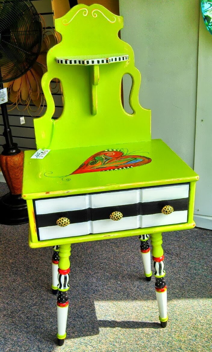 Carolyn 39 s funky furniture funky vintage telephone table for Table tele