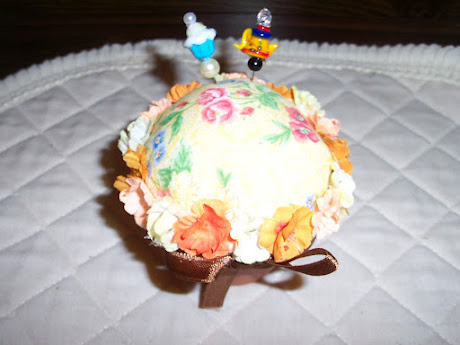 View 2 of he Flower Pot Pin Cushion