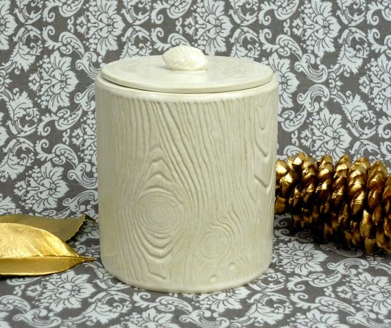 faux bois kitchen canister