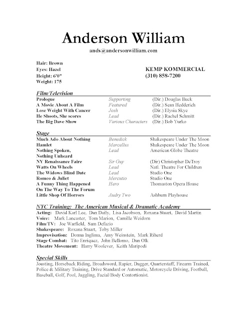 resume examples for teenagers first job now a few theatre resume