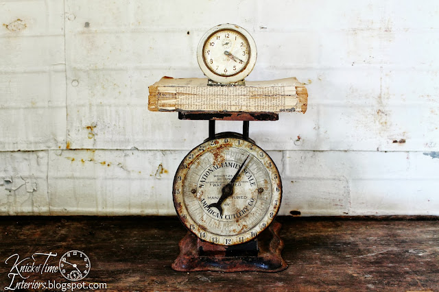 Antique Kitchen Scale via KnickofTimeInteriors.blogspot.com