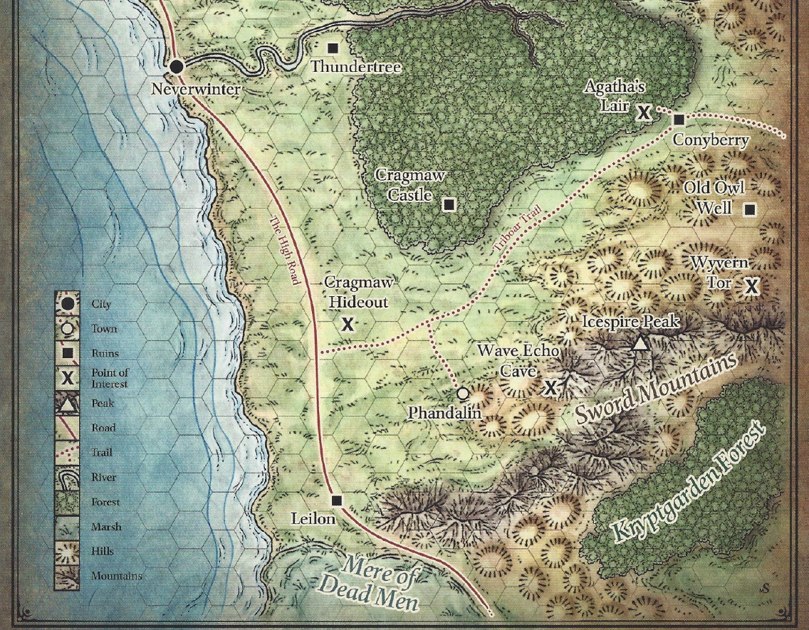Forgotten Realms Blood Of The Tainted Maps Northern Sword Coast
