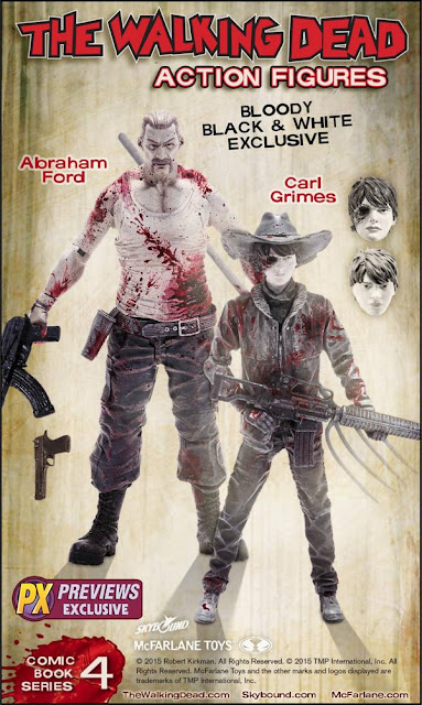 Previews Exclusive The Walking Dead Bloody Black and White Carl Grimes & Abraham Ford Action Figure 2 Pack by McFarlane Toys