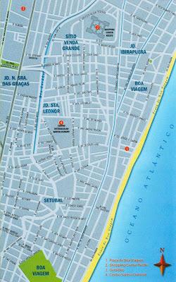 Mapa da Praia Boa Viagem - Recife