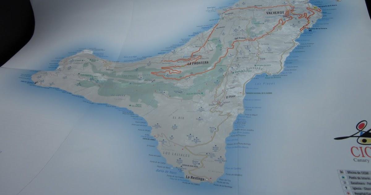 Canary Island On A Map