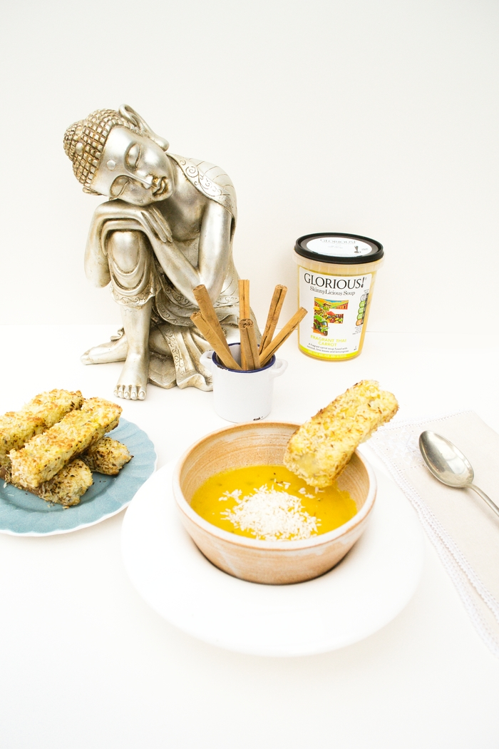 Thai Spiced Eggy Bread Dippers with Coconut