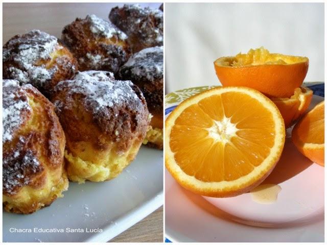 Torta rápida de naranja en moldes chicos - Chacra Educativa Santa Lucía