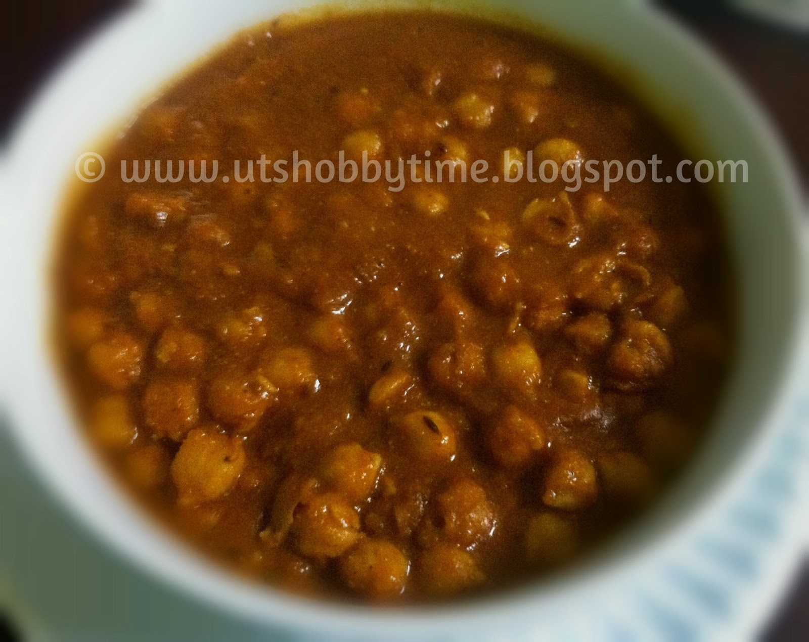 UTs Hobby Time***: Chana Masala
