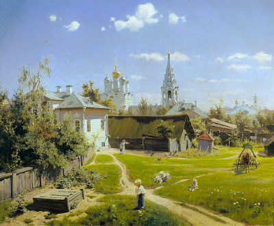 Un patio à Moscou Vasily Polenov