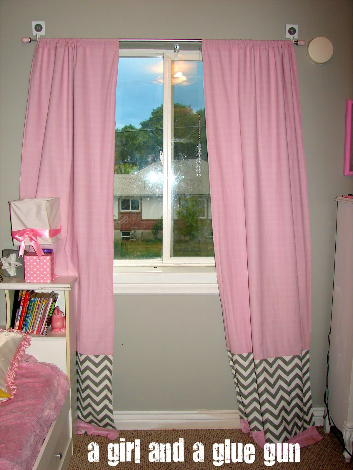 Hot pink curtains - Curtains