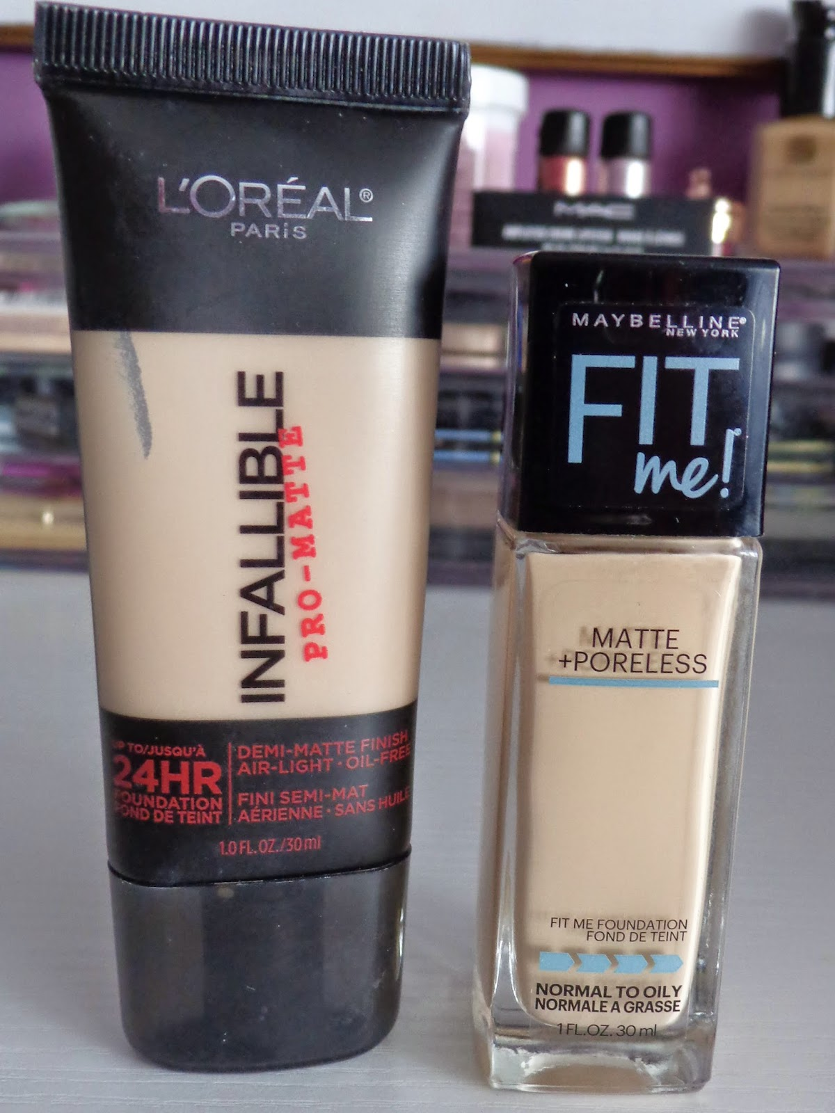 Ms. Adventures in Makeup: Foundation Face-Off: L'Oreal Infallible ...