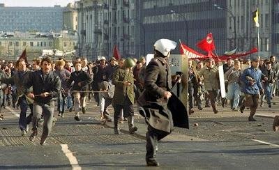 Disturbios en Moscú