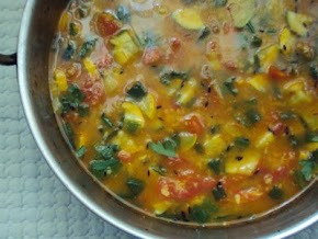 zucchini daal or a lentil soup with zucchini, a healthy simple desivideshi fusion...