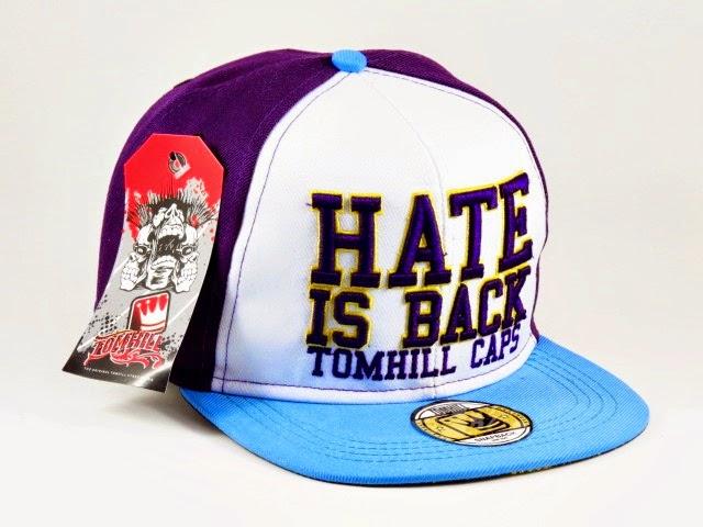 Boné Tom Hill Snapback Hate Is Back Roxo