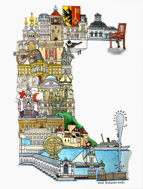 07-G-Geneva-Switzerland-Hugo-Yoshikawa-Illustrated-Architectural-Alphabet-City-Typography-www-designstack-co