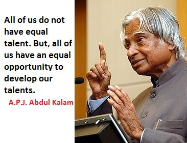 all of us do not have equal talent quote official kalam