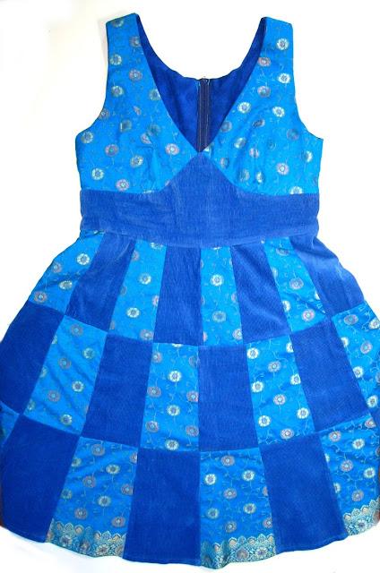 sukienka patchworkowa