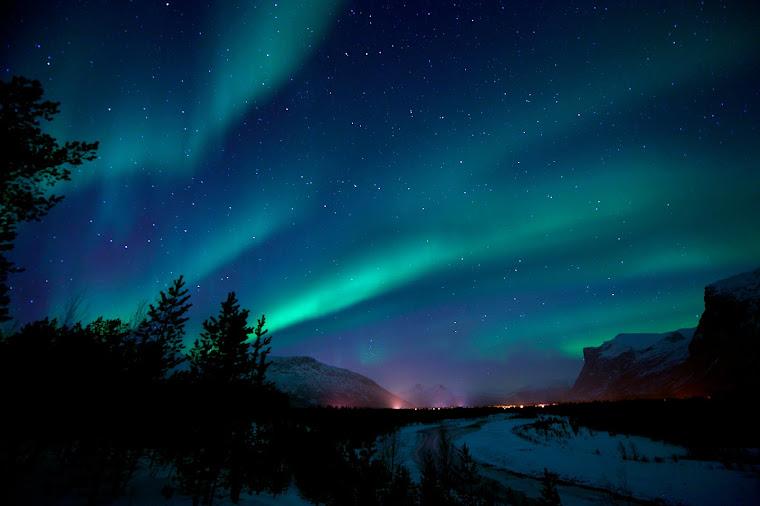Aurora boreal en Laponia, parte de Noruega - Foto tomada de lapplandreisetours.de