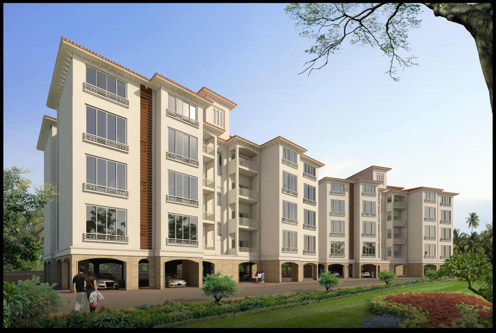 3D elevation of Apartments