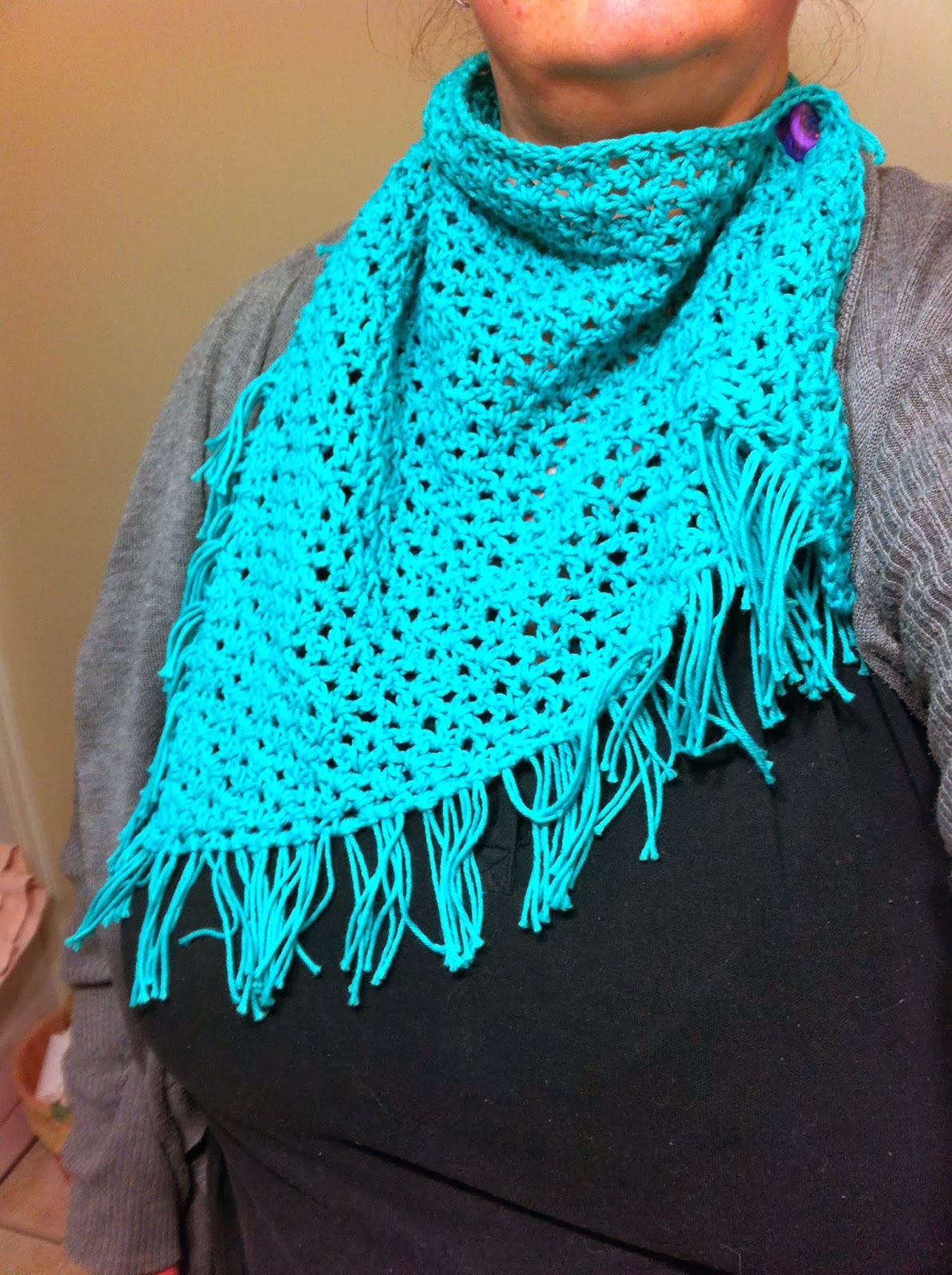 Crochet V Stitch : Passion 4 CROCHET: V-Stitch Triangle Scarf