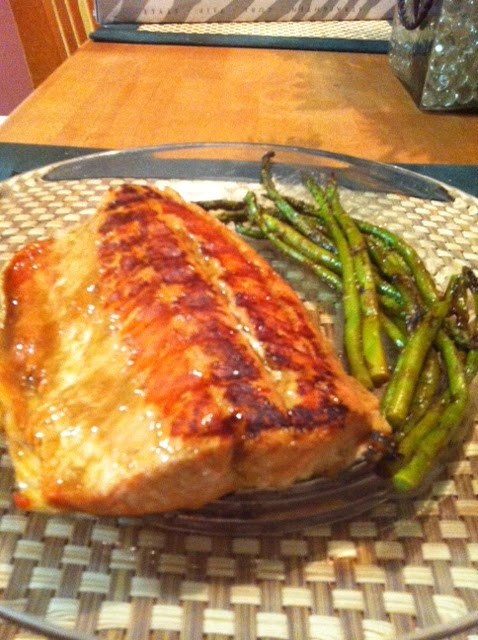 Honey-Mustard Salmon With Green Beans Recipe — Dishmaps